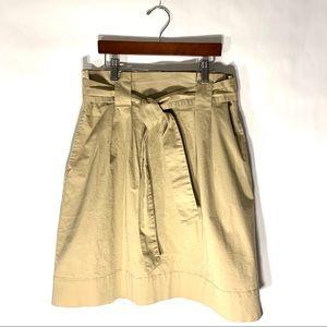 A New Day Khaki Paper Bag Waist Skirt Sz S